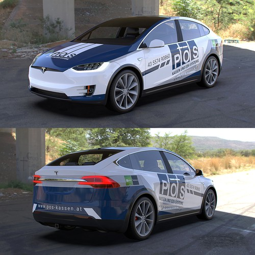 Tesla model X wrap