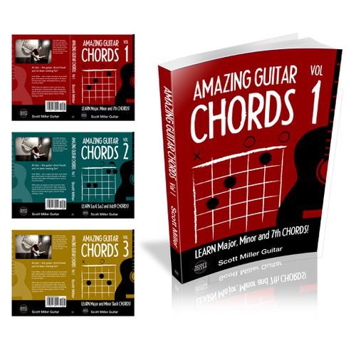 Create an amazing guitar instructional book cover for Scott Miller Guitar
