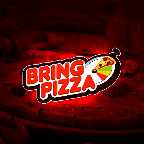 Design the logo for the first pizza company born on mobile.