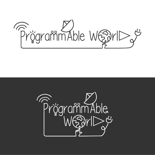 "Whimsical logo for unique brand ""Programmable World"""