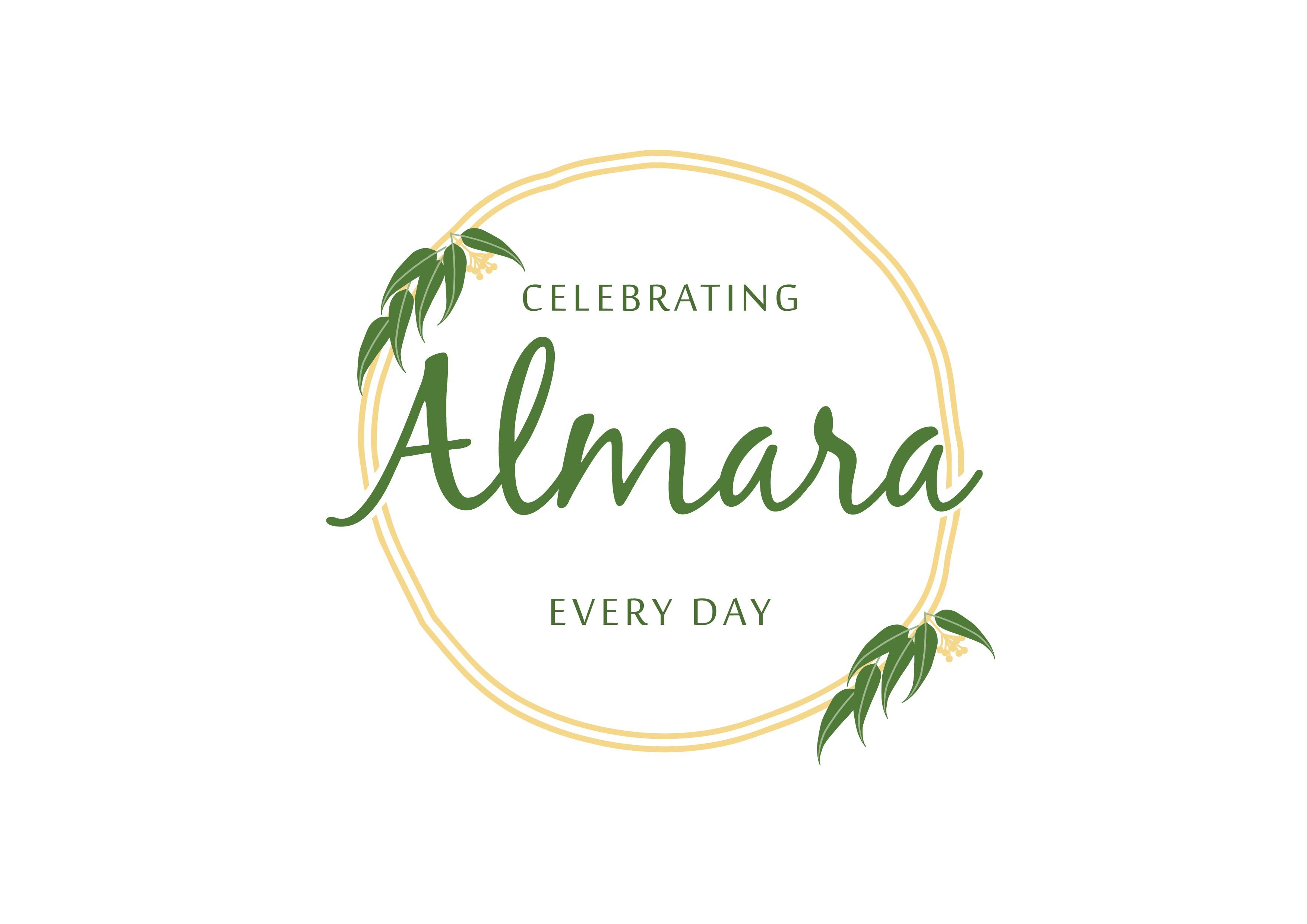 Celebratory, premium homeware gifts illustration for Almara required