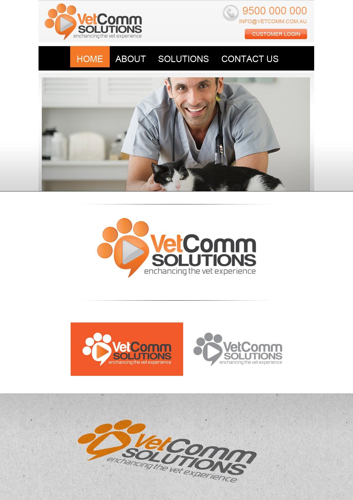 logo for VetComm Solutions