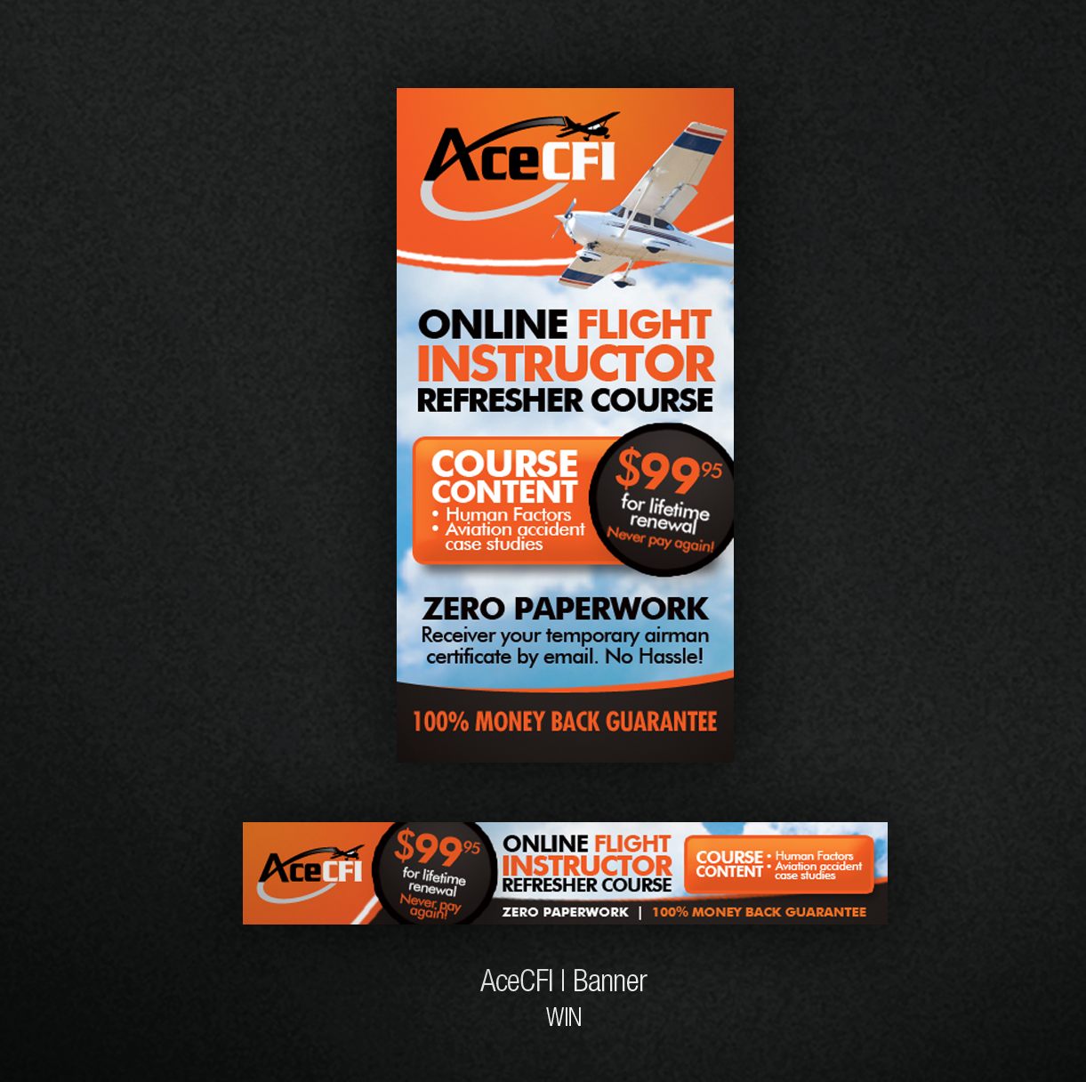 Create the next banner ad for AceCFI, LLC