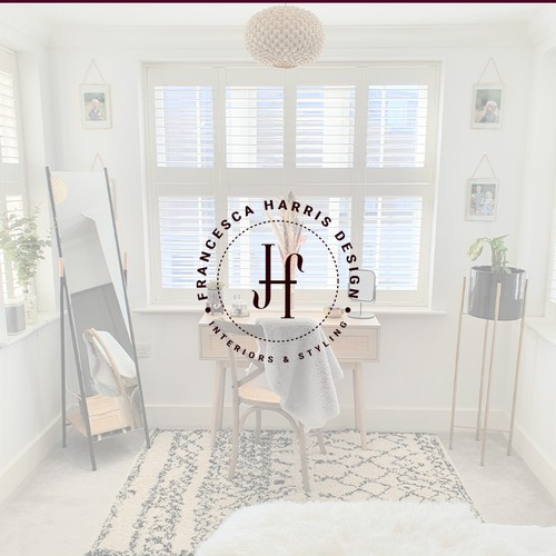 a luxurious yet modern logo for interior designer