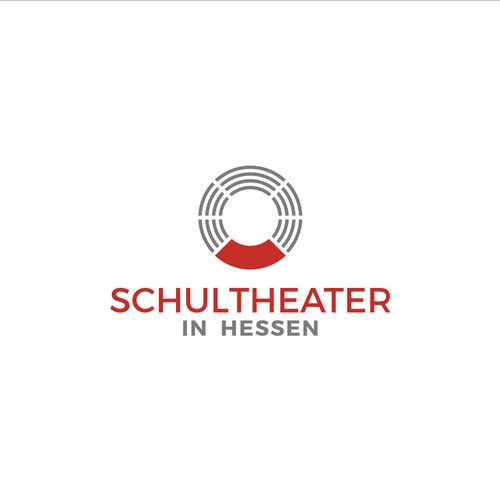 simple logo for theater school