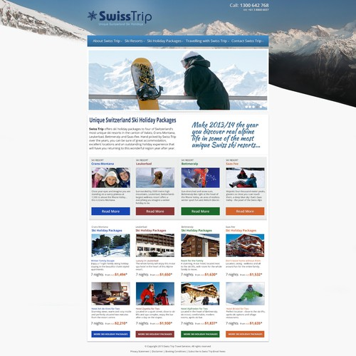 Swiss Trip - needs a new, refreshed website design