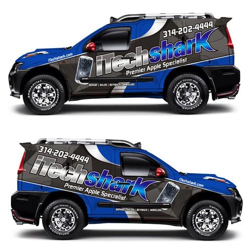Apple Tech Company - 2013 Nissan Xterra - Full Vinyl Wrap - iTechshark
