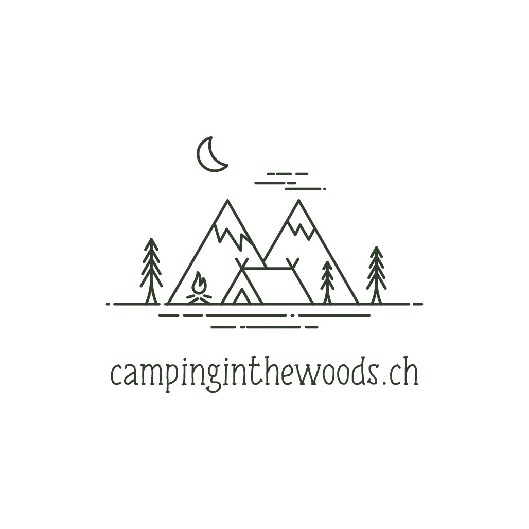 Logo for a website/blog of beautiful campsites in Switzerland