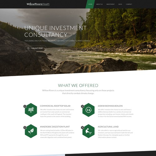 Willow Rivers Wealth Landing Page