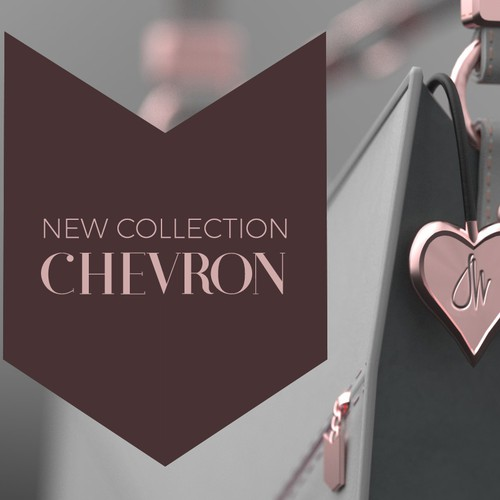 Purse Chevron Gold Pink