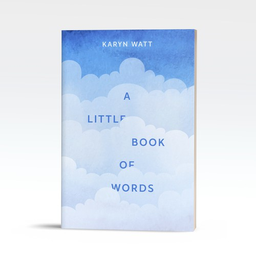 Simple concept for book about uplifting words