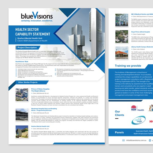 Blue Visions Flyer