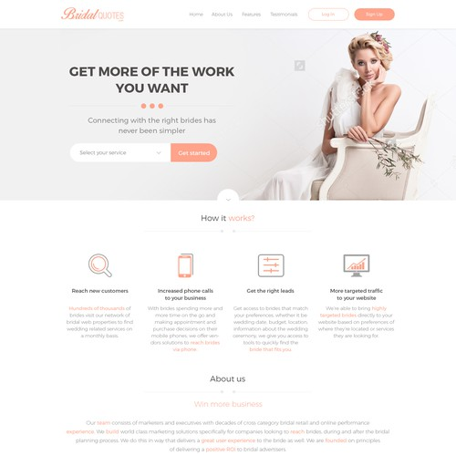 B2B Bridal website