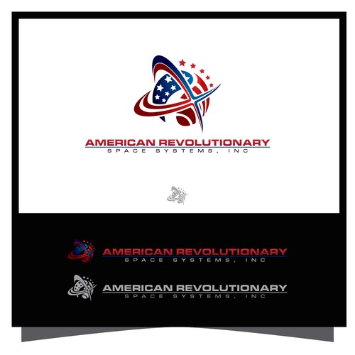 Futuristic Logo for American Revolutionary Space Systems. Inc