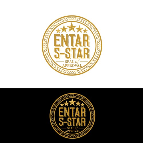 Logo design for Entar 5-Star Seal of Approval (Think Good Housekeeping Seal of Approval meets Yelp