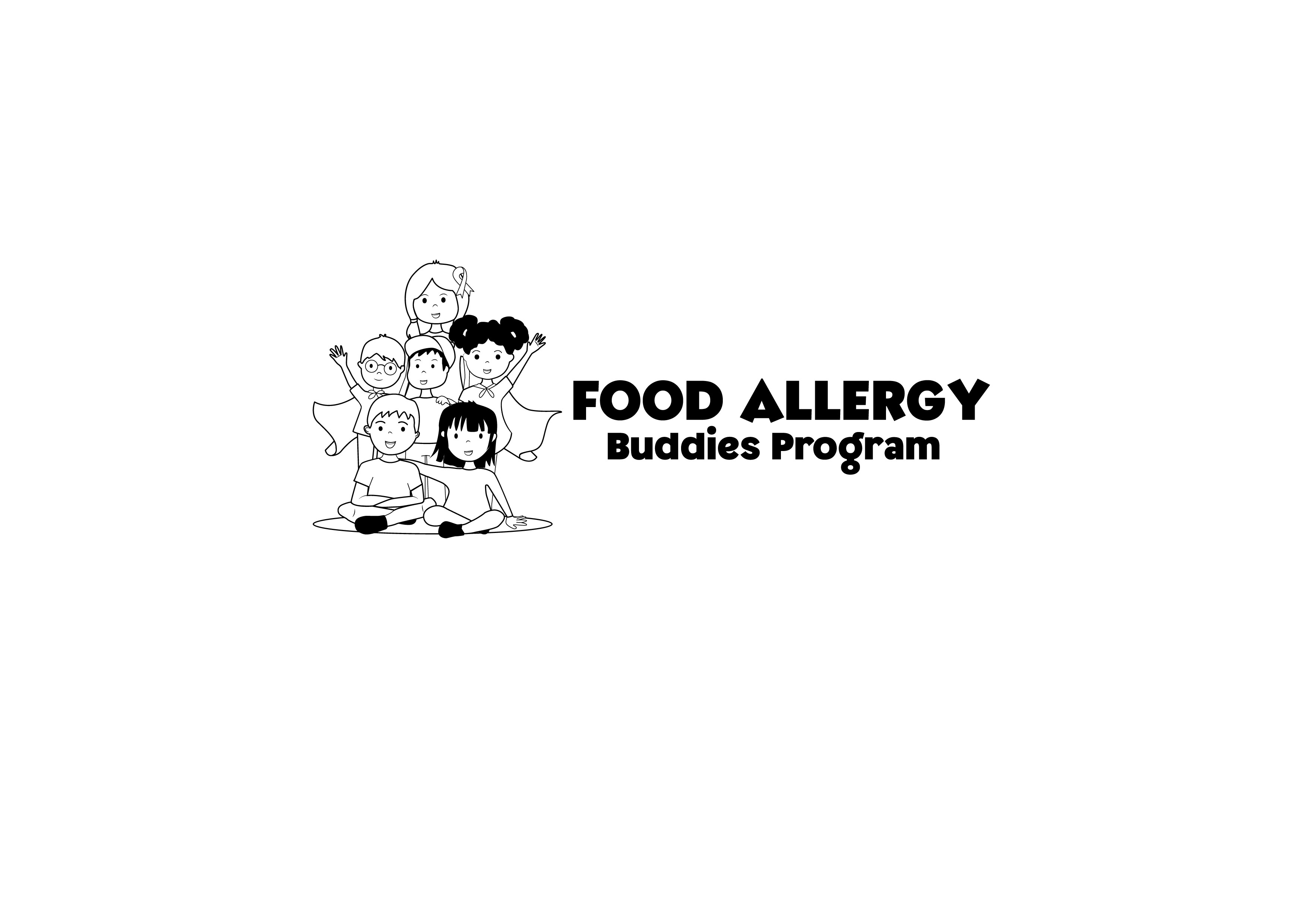 Logo for a mentorship program for kids with food allergies