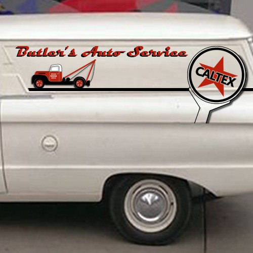 Retro business design for iconic restored van