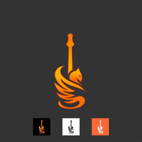 guitar phoenix logo brand