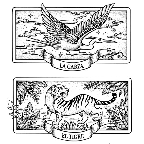 Heron, Tiger & Alligator