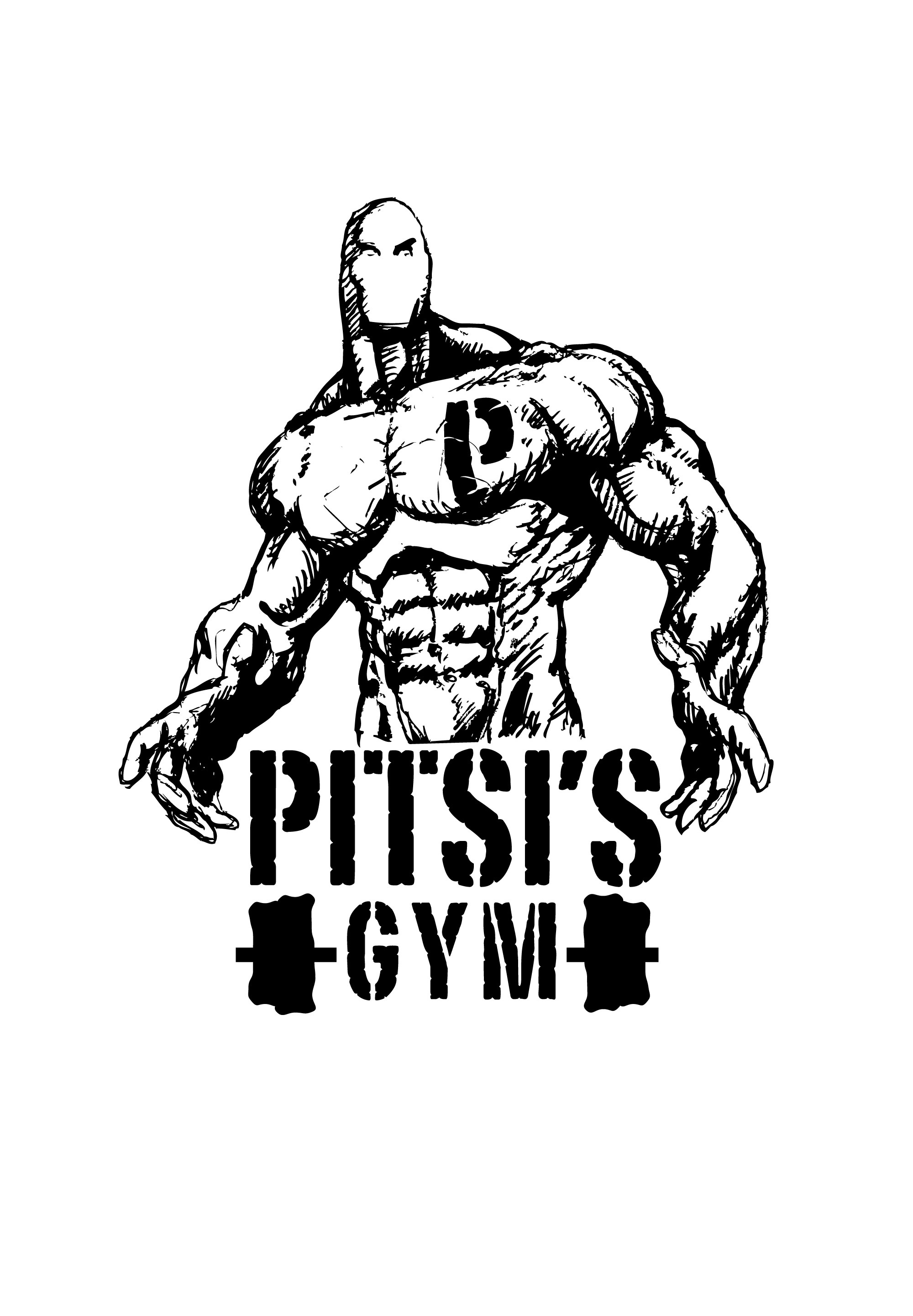 Create a badass imposing comic book character for Pitsi's Gym