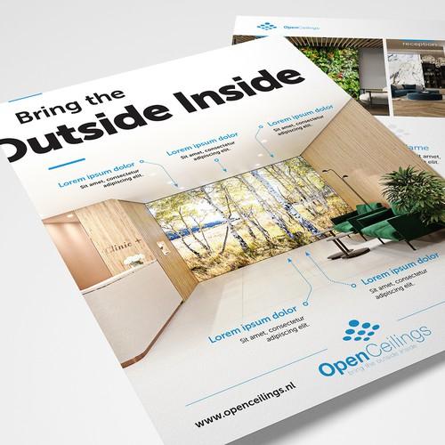 Creative flyer for a high-end creative lighting concept