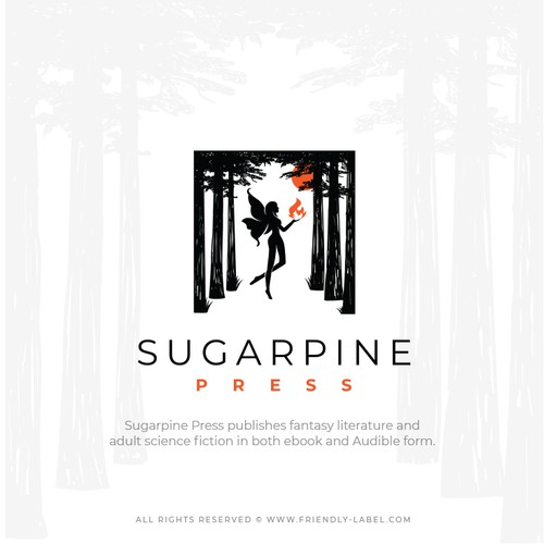 Logo that inspires mystery, curiosity and imagination for Sugarpine Press