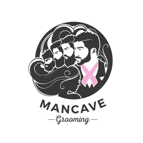 bold logo concept for mancave grooming