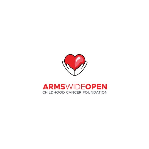 Logo for Arms Wide Open Childhood Cancer Foundation