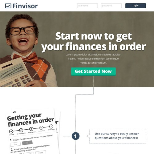 site for finance startup!