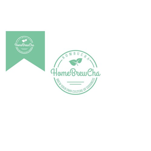 create a simple yet elegant logo for homemade kombucha tea (served cold)
