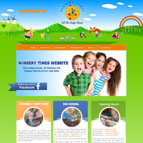 Children's Nursery Website Design!!!