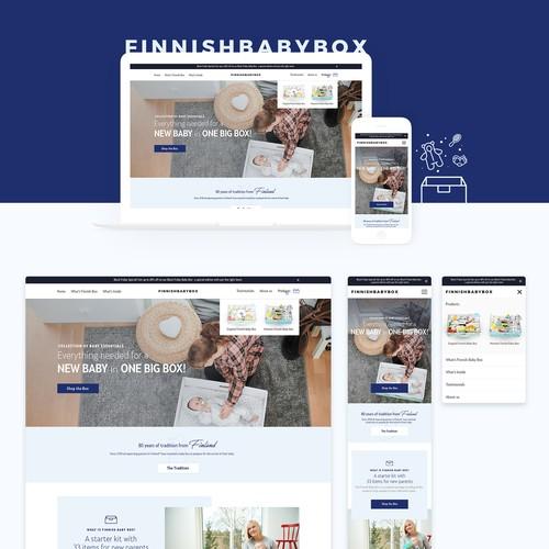 FinnishBabyBox Website Design