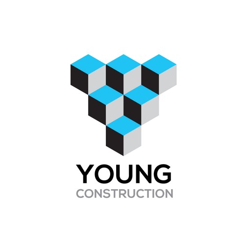 Create a capturing logo for a premiere construction company in downtown LA