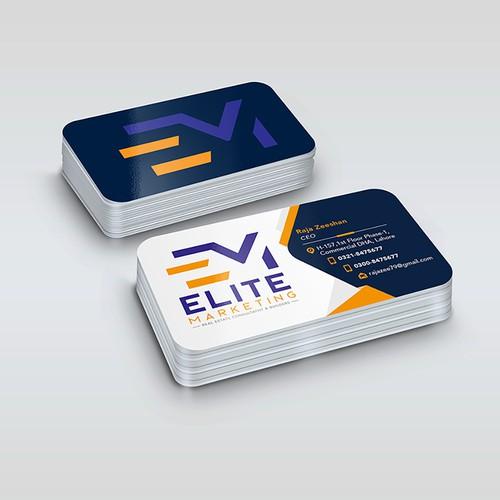 Business Card Design for Elite Marketing