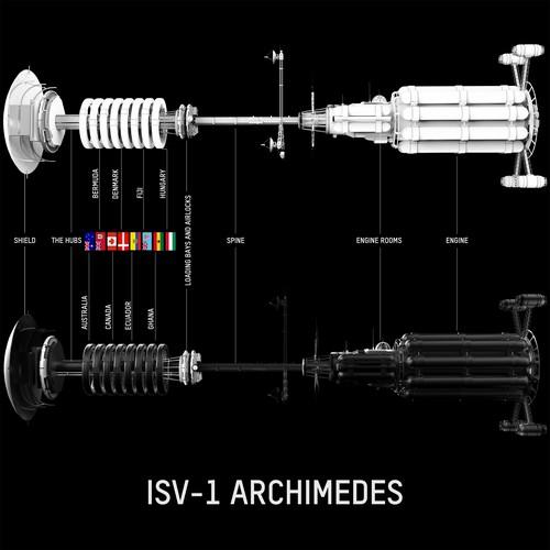 Sci-Fi Starship Schematic