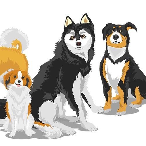 Dog Illustrations Set
