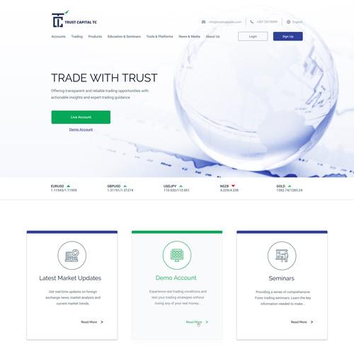 Innovative Forex Website Design