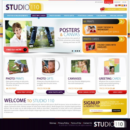 Webdesign for Studio 110