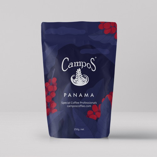 Background design concept for Campos Coffee