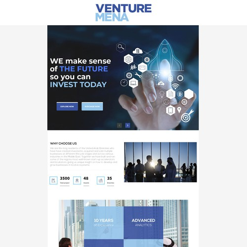 Squarespace landing site for micro VC fund