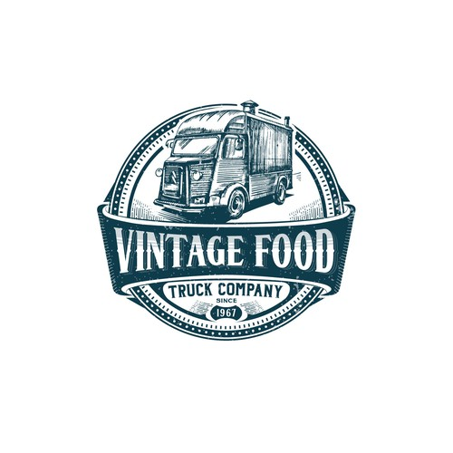 The logo for vintage foodtruck