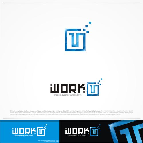 WORK T logo design