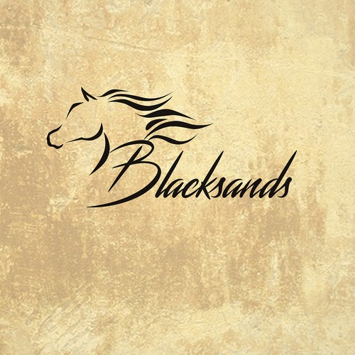 Sophisticated horse logo for Blacksands