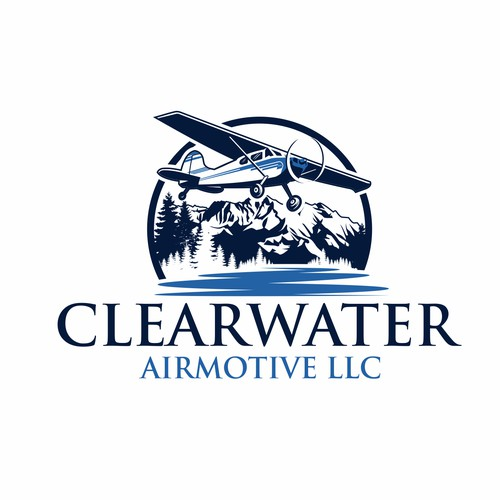 Design a Backcountry Aircraft Maintenance Company Logo with bigger mountain.
