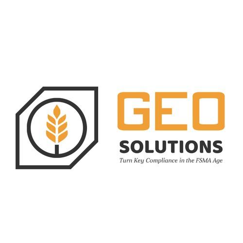 Simple two color logo design for grain elevators and storage facilities