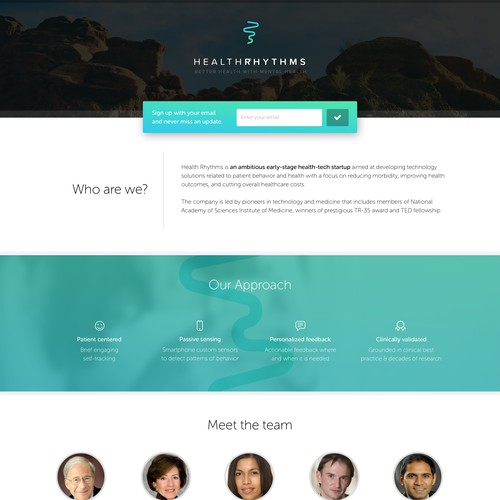 Website & Logo Design for Health-Tech Startup