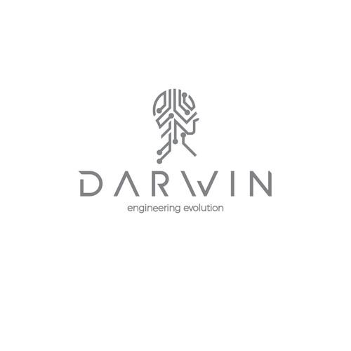 Logo concept for tech company, Darwin Engineering Evolution