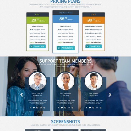 Create a stunning web site for SaaS company