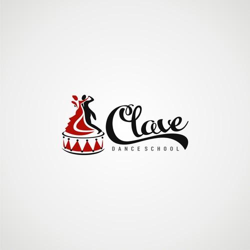 "logo ""CLAVE"" dance school"