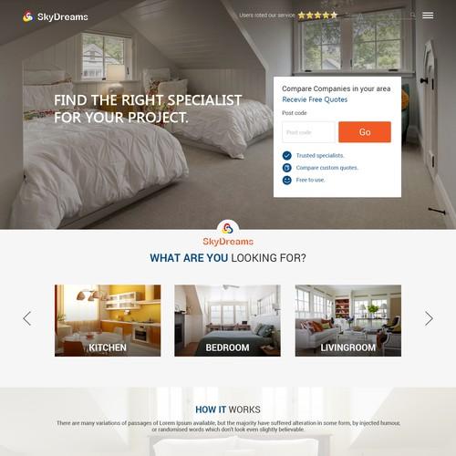 Website design for SkyDreams
